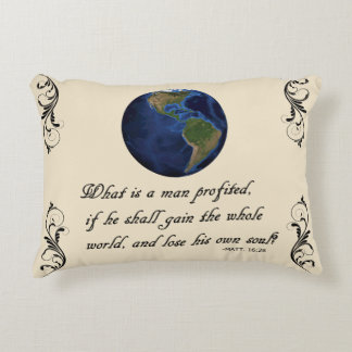 WHAT IS A MAN PROFITED DECORATIVE PILLOW