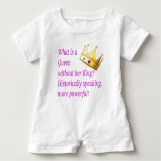 What is a Queen without her King? Baby Romper