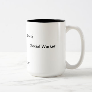 What is a Social Worker? Two-Tone Coffee Mug