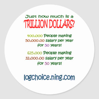 What is a trillion classic round sticker