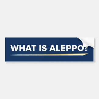 What is Aleppo Bumper Sticker