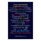 """What Is Success?"" - Ralph Waldo Emerson Poster"