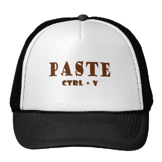 What is the keyboard shortcut for paste trucker hat