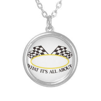 What its All About Silver Plated Necklace