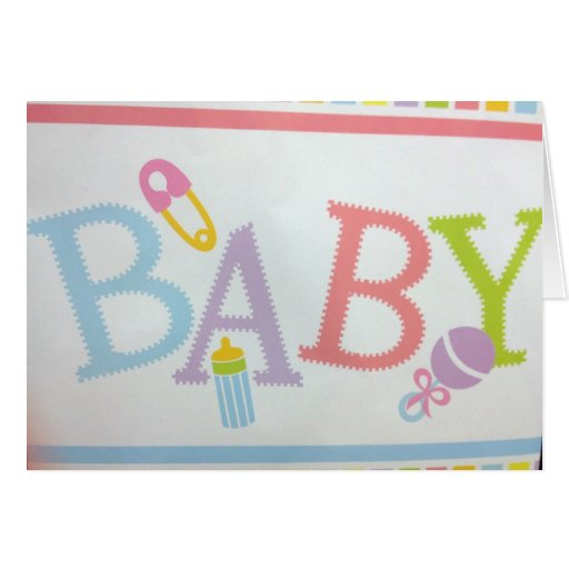 WHAT JOY AND SO HAPPYFOR YOU-A NEW BABY GREETING CARD