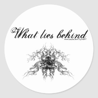 What lies behind stickers