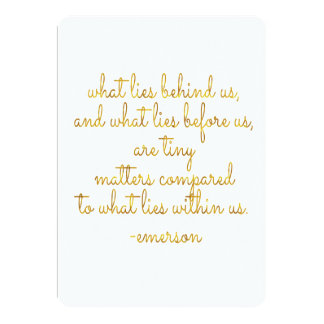 What Lies Within Us Emerson Gold Faux Foil Quote Card