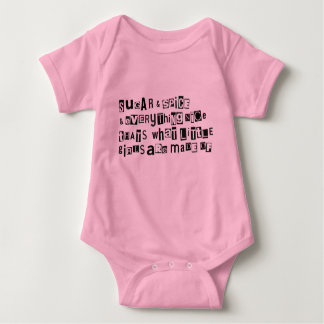 What little girls are made of baby bodysuit