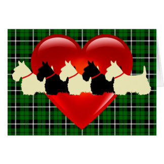 What love is greater than a Scottish Terriers? Card