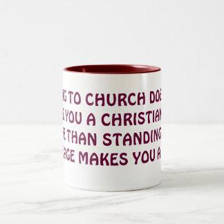 WHAT MAKES A CHRISTIAN? Two-Tone COFFEE MUG
