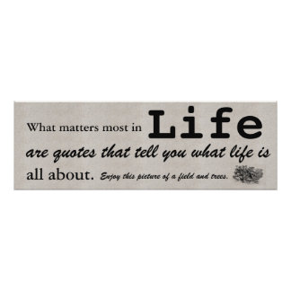 What matters most in life are quotes that tell you poster