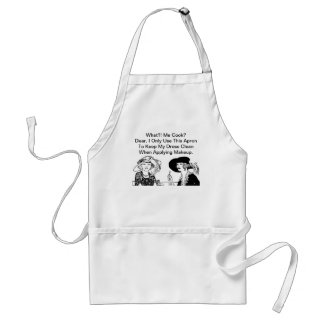 WHAT ME COOK? Funny Diva Ladies Chef Vintage Standard Apron