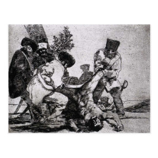 What more can one do? by Francisco Goya Postcard