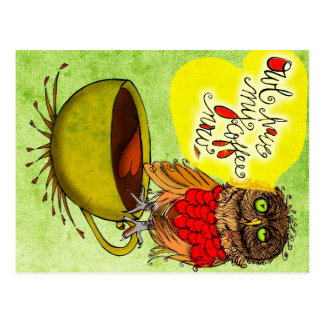 What my #Coffee says to me - Owl HAVE MY COFFEE NO Postcard