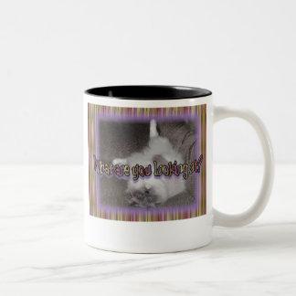What?! (new version) Two-Tone coffee mug