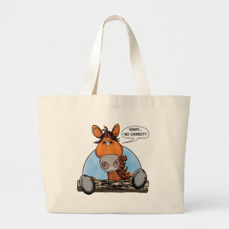 WHAT...  NO CARROT? LARGE TOTE BAG