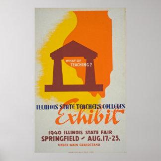 What Of Teaching Teachers Exhibit Vintage Poster