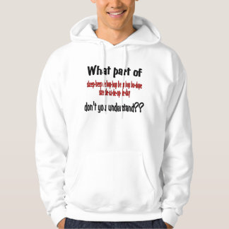 What part don't you understand? hoodie