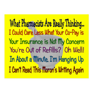 What Pharmacists are REALLY THINKING Postcard