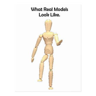 What Real Models Look Like Artist Mannequin Postcard