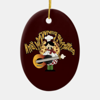 What's-a-cooking-good-a-looking Ceramic Oval Ornament