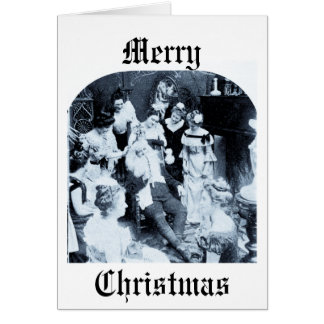 What Santa Does on December 26th - Vintage Greeting Card