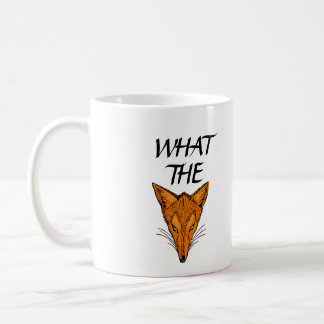 WHAT THE FOX COFFEE MUG