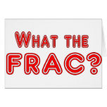 what the frac ? greeting card