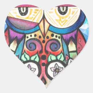 What the hoot? heart sticker