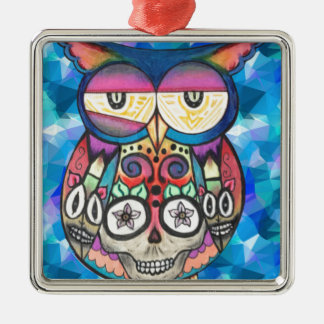 What the hoot? metal ornament