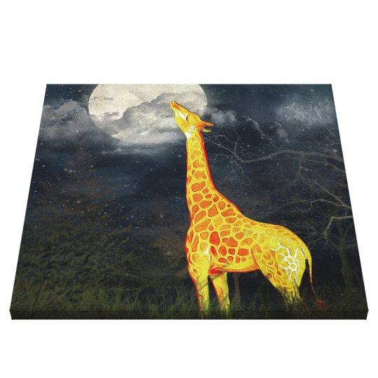 What the moon tastes like? Giraffe & Moon | Canvas