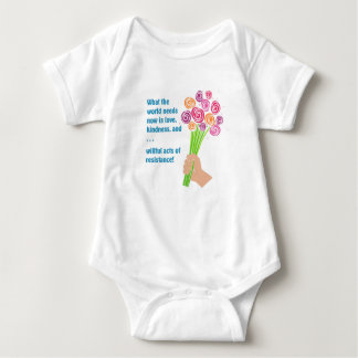What the world needs now baby bodysuit