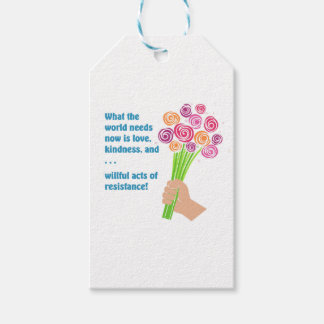 What the world needs now pack of gift tags