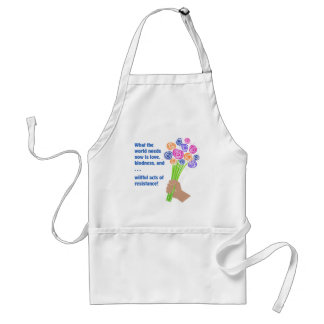 What the world needs now standard apron