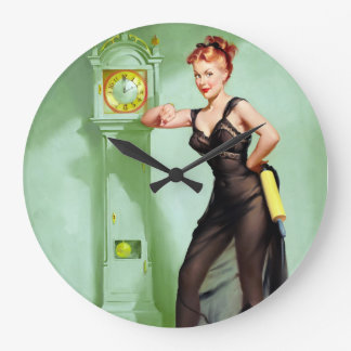 What Time Is It? Pin Up Large Clock