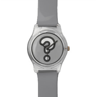 What Time Is It? Question Mark Watch in Gray