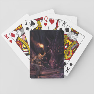What was that? A Dragon watches a warrior Playing Cards