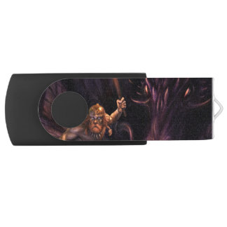 What was that? A Dragon watches a warrior USB Flash Drive