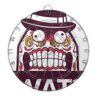 what wat scary teeth design dartboard