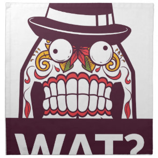 what wat scary teeth design napkin