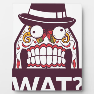 what wat scary teeth design plaque