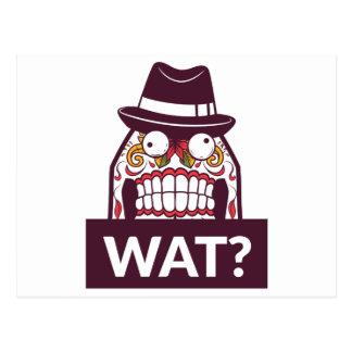 what wat scary teeth design postcard