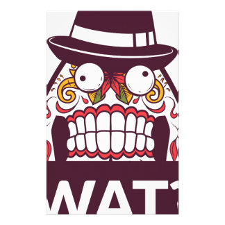 what wat scary teeth design stationery