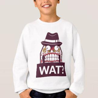 what wat scary teeth design sweatshirt