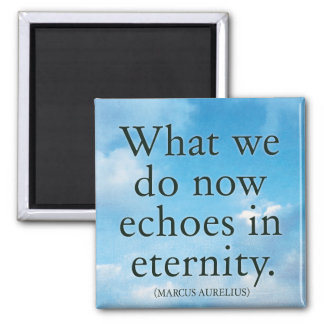 What we do now echoes in eternity - Quote Magnet