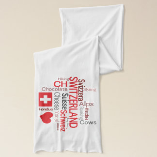 What We Love about Switzerland Word Cloud Scarf