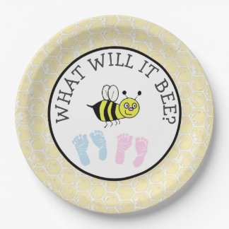 What will it Bee Baby Shower Bumble Paper Plates