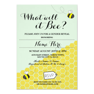 What will it Bee? Honey Baby Shower Party Invite