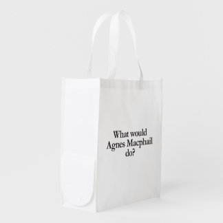 what would agnes macphail do reusable grocery bag
