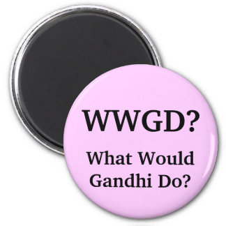 What Would Gandhi Do? Magnet